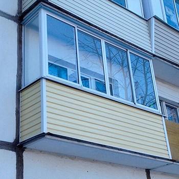 Балкон в хрущевке: остекление по отличной цене.